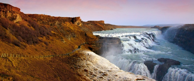 The Gulfoss Falls is our first photography stop